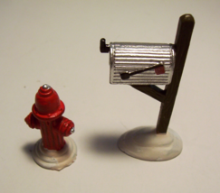 Department 56 Fire Hydrant Mailbox Dept 56 Snow Village Accessory Retired - $6.99