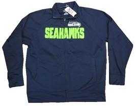 Seattle Seahawks NFL Full Zip Up Jacket w/ Fuzzy Inner Lining Men's Large L - $815,94 MXN