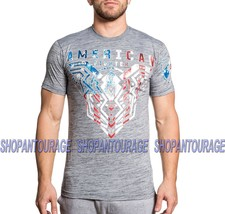 American Fighter Brimley Patriot FM6579 Men`s Grey Graphic T-shirt By Af... - $37.95