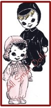 Vintage Sock Doll Pattern * Adorable Snowsuits + Outifts - $5.99
