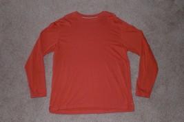Tommy Bahama Men's Long Sleeve Shirt, Orange, Size Large - $12.99