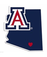 NCAA Arizona Wildcats Home State Auto Car Window Vinyl Decal Sticker - $4.95