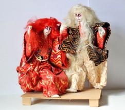 Vintage Japanese Kabuki White Lion Doll, Handma... - $248.48