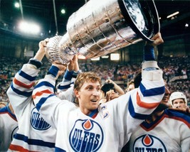 Wayne Gretzky Edmonton Oilers Stanley Cup 28X35 Color Hockey Memorabilia... - $45.95
