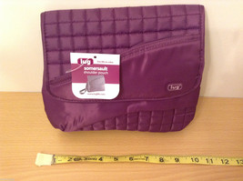 "NWT Lug ""Somersault"" Shoulder Pouch Mini-Messenger Bag Purse in Plum Purple"