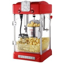 Red Popcorn Popper Machine Retro Style Kettle Compact Tabletop with Serv... - £90.27 GBP