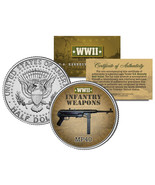 MP40 * WWII Infantry Weapons * JFK Kennedy Half Dollar U.S. Coin - £6.37 GBP