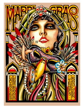 New Orleans Vintage Mardi Gras Advertising 13 x 10 inch Giclee CANVAS Print - $19.95
