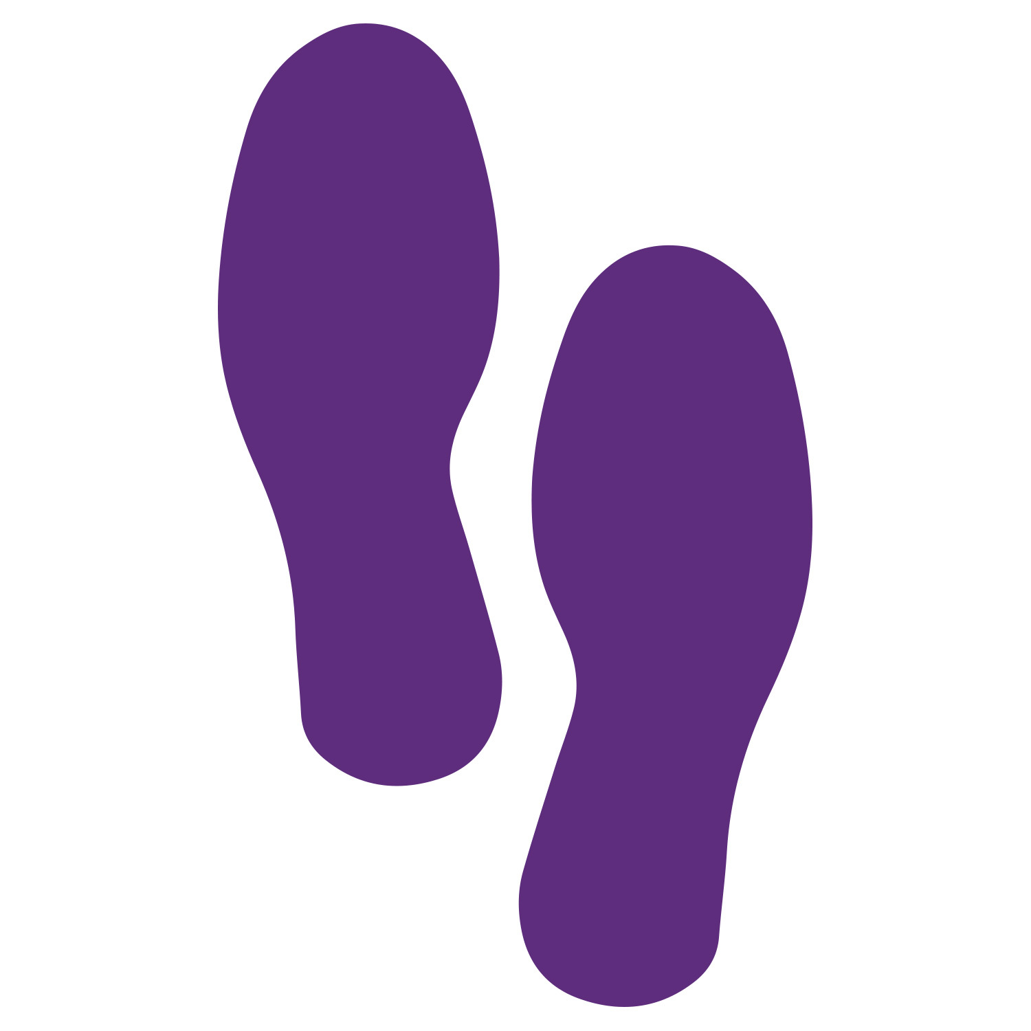 Primary image for LiteMark Large Size Purple Removable Footprint Decals  - Pack of 8 (4 Pairs)
