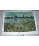 """1945 Claude Monet 33"""" X 26"""" Banks Of The Seine, Vetheuil Oil On Canvas A... - $16.43"""