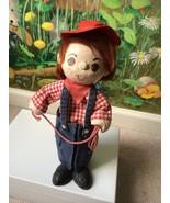 "VTG Cowboy Holding a Robe Paper Mache Doll 11"" Rare - $58.41"