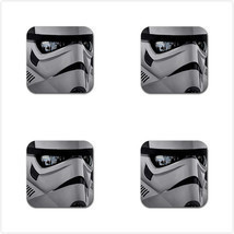 4 Packs Rubber Coaster - Star Wars Stormtroopers Rubber Square Coaster  - $5.99