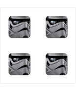 4 Packs Rubber Coaster - Star Wars Stormtroopers Rubber Square Coaster  - £4.49 GBP