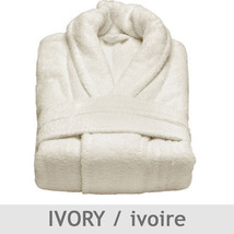 Plush Pile Bathrobe by Talesma 100% Turkish Cotton Made in Turkey - Ivory - $118.50