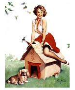 """CUTE PUPPY"" 13 x 10 inch Vintage 1940's Dog Ho... - $19.95"