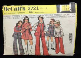Jumper Vest Dress Blouse Sewing Pattern Size 12 Girls Child Vintage 3721... - $6.92