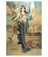 4390.Fernet-Branca.Milano.woman holding flag.POSTER.decor Home Office art - $10.89+