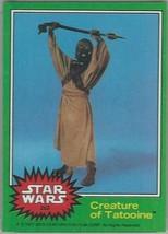 1977 Topps Star Wars Ser 4 Green #262 Creature Of Tatooine > Tusken > Good - $1.25