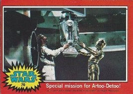 1977 Topps Star Wars Ser 2 Red #70 Special Mission For Artoo-Detoo! > Very Go - $1.49