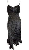 Size 12 14 Black Velvet Dress ~ NWT ~ Clockhouse - $20.69
