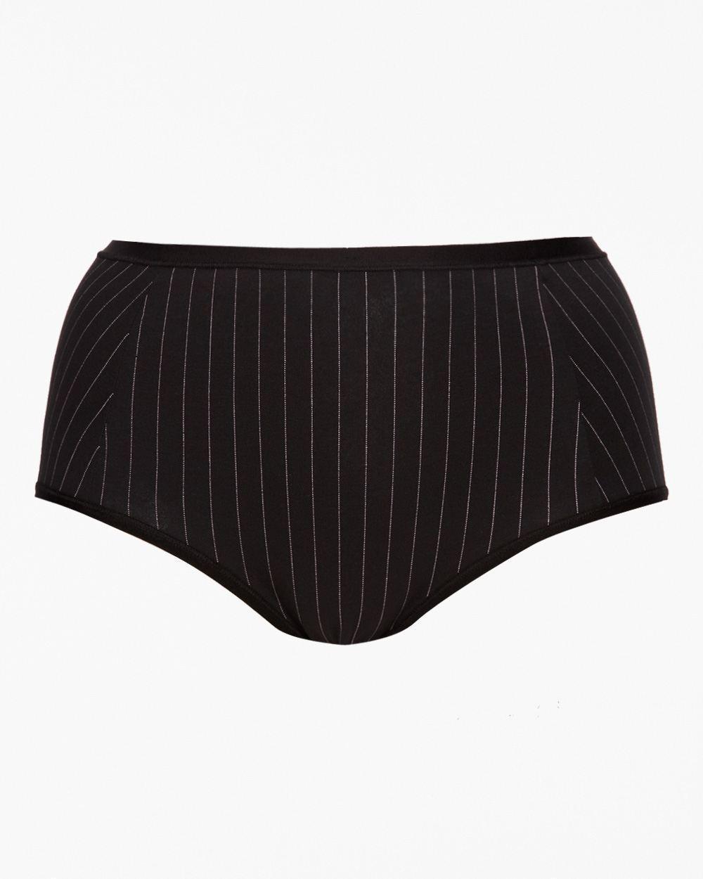 X Tuxedo Stripe Full Brief Panties ~ NWT ~ Addition Elle ~ Black & White - $9.19