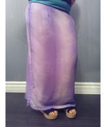 18 Lavender Floral Print Long Elastic Waist Skirt NWT Pennington's  - $23.88