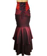 24 26 Sexy Burgundy Jacquard Victorian Steampunk Laced Waist Skirt 3X - $53.41