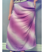 18 Lavendar Striped Long Elastic Waist Skirt NWT Pennington's  - $23.88