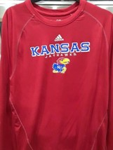 Adidas Kansas Jayhawks - Red Clima-lite Long Sleeve Shirt - Size Large - $19.95