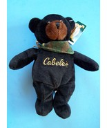 "9"" CABELAS BURT BLACK BEAR w/ Camouflage Scarf and Paper & Tush Tag NEW - $8.91"