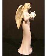 Porcelain Musical  Angel Figurine by Roman Inc Plays Greensleeves - $7.99