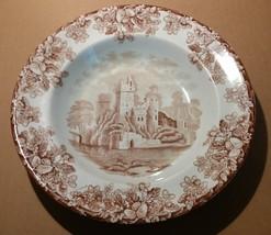 7211----1881 Copeland bowl -- castle scene with acorn pattern - $50.00