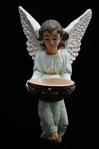 Angel Holding Holy Water Font Statue Sculpture Made in Italy Catholic Religious - $99.95