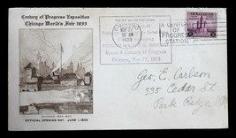 US STAMP #729 Original Show Cover Design for CHICAGO World's Fair Openin... - $159.99