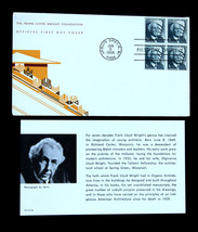 US Stamp Sc# 1280 FDC THE FRANK LLOYD WRIGHT FOUNDATION OFFICIAL COVER - $49.99