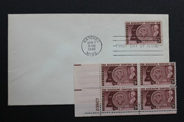 U.S. STAMP Sc# 955 MNH Plate Block + 1 FDC 1948 Mississippi - $7.99
