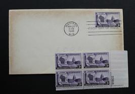 U.S. STAMP Sc# 957 MNH Plate Block + 1 FDC 1948 Wisconsin Centennial - $4.99