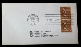 U.S. STAMP Sc# 849 PAIR FDC COVER MARTHA WASHINGTON - $9.99
