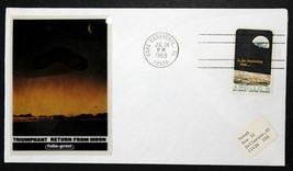 US Stamp Sc# 1371 RETURN FROM THE MOON - FOLIO PRINT CACHET JUL 24, 1969 - $9.89