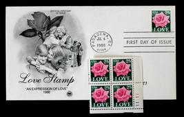 U.S. STAMP Sc# 2378 MNH PLATE# BLOCK 11111 UR + ARTCRAFT FDC 1988  LOVE ... - $3.95