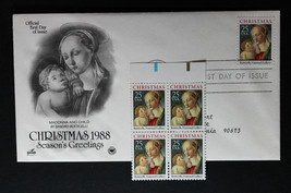 U.S. STAMP Sc# 2399 Block of 4  MNH + 1 FDC Cover  Madonna and Child 1988 - $3.95