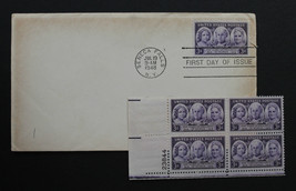 U.S. STAMP Sc# 959 MH Plate Block + 1 FDC 1948 Progress of Woman Issue - $3.95