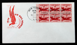 US Stamp #C39a FDC BKLT6 Unaddressed  HOUSE OF FARNAM  DC-4 Skymaster - $4.94