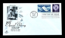 US Stamp Sc# E20 FDC Special Delivery with #1035 Artcraft Cachet 1954 - $1.97