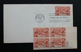 U.S. STAMP Sc# 964 MNH Plate Block + 1 FDC 1948 Oregon Territory History - $3.95