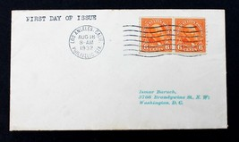 """US Stamp Sc# 723 FDC 1932  6c Garfield Pair on Tiny Cover 3"""" x 5 1/2"""" - $29.69"""
