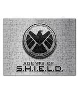 Marvel agents of shield logo gift ideas rectangular jigsaw puzzle thumbtall