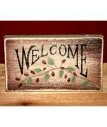 Welcome Primitive Country Block Shelf Sitter  - $5.95