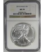 2015 American Silver Eagle NGC MS70 Coin AJ378 - $66.66