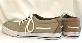 Polo Ralph Lauren Men's Vance Canvas Light Brown Tan Sneakers Boat Shoe ... - $24.89